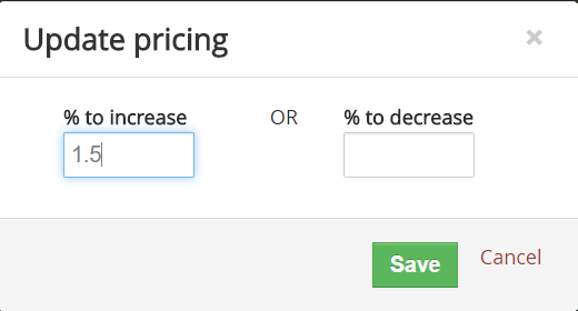 Quickly update pricing for 1000s of Vtiger products in one click
