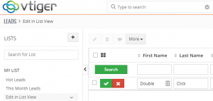 Vtiger 7 New Feature: Edit in List View - Boru Apps